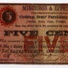 Illinois, Kankakee City, Minchrod & Eppstein, 5 Cents, 1862