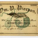 Illinois, Onarga, Wm. P. Pierson, 75 Cents, Nov 1, 1862