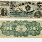 Illinois, Quincy, College Currency, $500, 1873