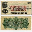 Illinois, Sullivan, Ransom & Peck's Merchandise Exchange, $10, 1870s