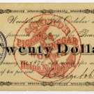 Illinois, Woodstock, Heinz, Noble & Co., $20, October 1, 1875
