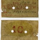 Lowell, DS & GF Richardson, 10 Cents, 1862