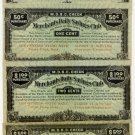 Kansas, Valley Falls, Set of (4) Bank Savings Scrip