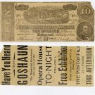 Elkton, Advertising Note, on back of 1864 CSA $10 Replica