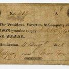 Henderson, Bank of Henderson, $1, Aug 4, 1818