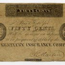 Lexington, Kentucky Insurance Company, 50 Cents, no date (1810s-20s)