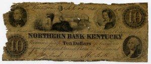 Richmond, Lexington, Northern Bank of Kentucky, $10, Sept 15, 1852