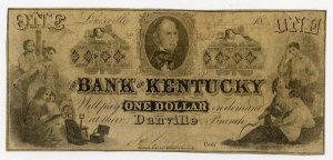 Danville, Louisville, Bank of Kentucky, $1, August 15, 1856
