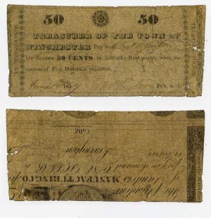 Winchester, Town of Winchester, 50 Cents, June 18, 1837