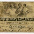 Lynn, City Bank of Lynn, $5, May 1, 1863