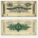 North Abington, JM Culver & Co., 25 Cents, November 18, 1862