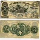 Louisiana, Baton Rouge, State of Louisiana, $5, October 10, 1862