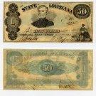 Louisiana, Shreveport, State of Louisiana, $50, 1863