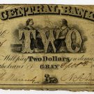 Maine, Gray, Central Bank, $2, Sept 8, 1857