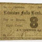 Maine, Lewiston, Androscoggin Mills, 8 Cents, 1862