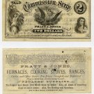 Maine, Lewiston, Pratt & Jones, $2 Commission Scrip, 1870s-80s