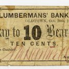 Maine, Oldtown, AM Hartwell, 10 Cents, Oct 28, 1862