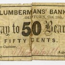 Maine, Oldtown, AM Hartwell, 50 Cents, Oct 28, 1862