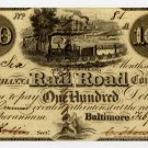 Baltimore and Susquehanna Rail Road Company, $100, 1838