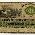 Greensborough, Farmers and Merchants Bank, $1, August 15, 1862