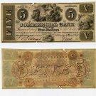 Millington, Commercial Bank of Millington, $5, January 1, 1840