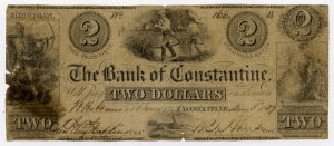 Michigan, Constantine, Bank of Constantine, $2, May 3, 1837