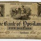Michigan, Ypsilanti, Bank of Ypsilanti, $5, Oct 7, 1836