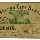 New York, Auburn, August Howland, Auburn City Bank, 10 Cents, Nov 1, 1862
