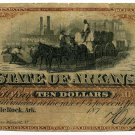 Arkansas, Little Rock, State of Arkansas, $10, 187-, (1872-3)