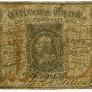 Indiana, Anderson, Citizens Bank, 10 Cents, Jany 1863