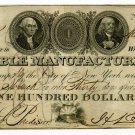 New York, New York, Marble Manufacturing Company, $100, March 28th, 1826