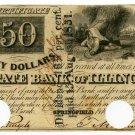 Illinois, Springfield, State Bank of Illinois, $50, Feb 1843