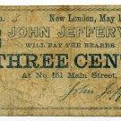 Connecticut, New London, John Jeffery, 3 Cents, May 1, 1864