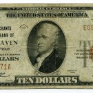 The Merchants National Bank of New Haven, $10, 1929 type 1, Charter #1128