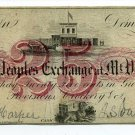 New York, Mt. Vernon, The Peoples Exchange, J.S. Vancourt, 25 Cents, no date (early 1860s)