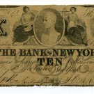 New York, NY, The Bank of NY, $10, April 1, 1849