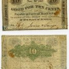 New Hampshire, Alton, Jones and Sawyer, 10 Cents, Nov 26, 1862