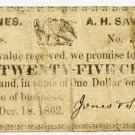 New Hampshire, Alton, Jones and Sawyer, 25 Cents, Oct 18, 1862