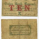 New Hampshire, Concord, George Hutchins & Co., 10 Cents, Nov 1, 1862