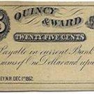 New Hampshire, Rumney, Quincy & Ward, 25 Cents, December 1, 1862