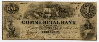 New Jersey, Perth Amboy, Commercial Bank, $1, July 10, 1856