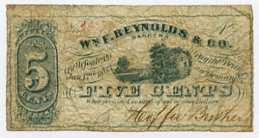 Pennsylvania, Bellefonte, Hoeffer Brothers, 5 Cents, Jan 12, 1863