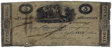 Pennsylvania, Germantown, Bank of Germantown, $5, August 1815