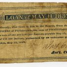 Pennsylvania, Philadelphia, City of Philadelphia, Loan of May 11, 1837, 25 Cents, May 12, 1837