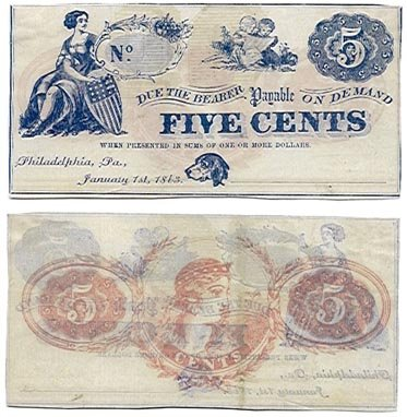 Pennsylvania, Philadelphia, Unidentified Issuer, 5 Cents, January 1, 1863