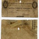 Pennsylvania, Philadelphia, The Bank of North America, 25 Cents, January 10, 1815
