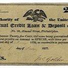 Pennsylvania, Philadelphia, Mutual Credit Loan and Deposit Office, 25 Cents, June 1, 1837