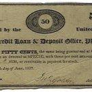 Pennsylvania, Philadelphia, Mutual Credit Loan & Deposit Office, 50 Cents, June 27, 1837