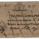 Pennsylvania, Philadelphia, Philadelphia Bank, $20, May 9, 1814