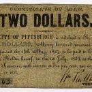 Pennsylvania, Pittsburgh, City of Pittsburgh, $2, May 20, 1837